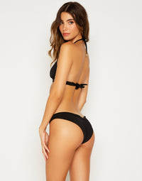 Smith Triangle Bikini Top in Black - back view