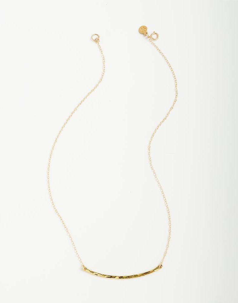 Gorjana's Taner Bar Small Necklace in Gold - product view