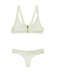 Zoey Brazilian Bikini Bottom in Ivory - product view