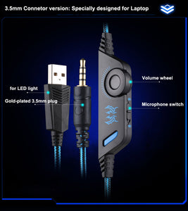 Gaming Headphone USB 3.5mm AUX PC Headset