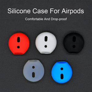 A Pair Shockproof Soft Silicone Earbuds Case