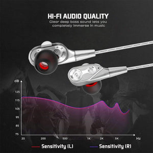 Dual Drive Stereo Wired Earphone