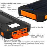 Top Solar Charger Power Bank Waterproof 30000mAh