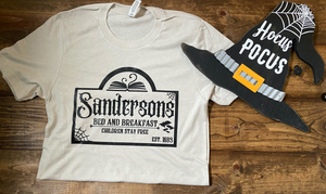 Sandersons Bed and Breakfast Graphic Tee - Cement