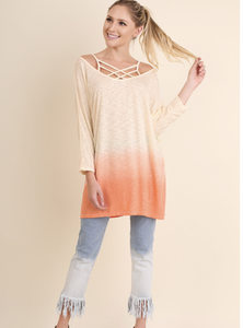 Ombre Tunic Top - Coral