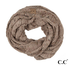 C.C Brand Confetti Knit Cable Infinity Scarf