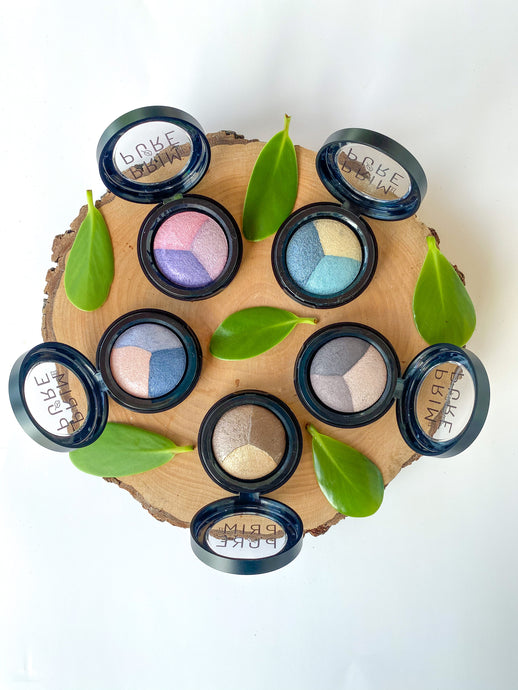Baked Mineral Natural Eye Shadow Trios