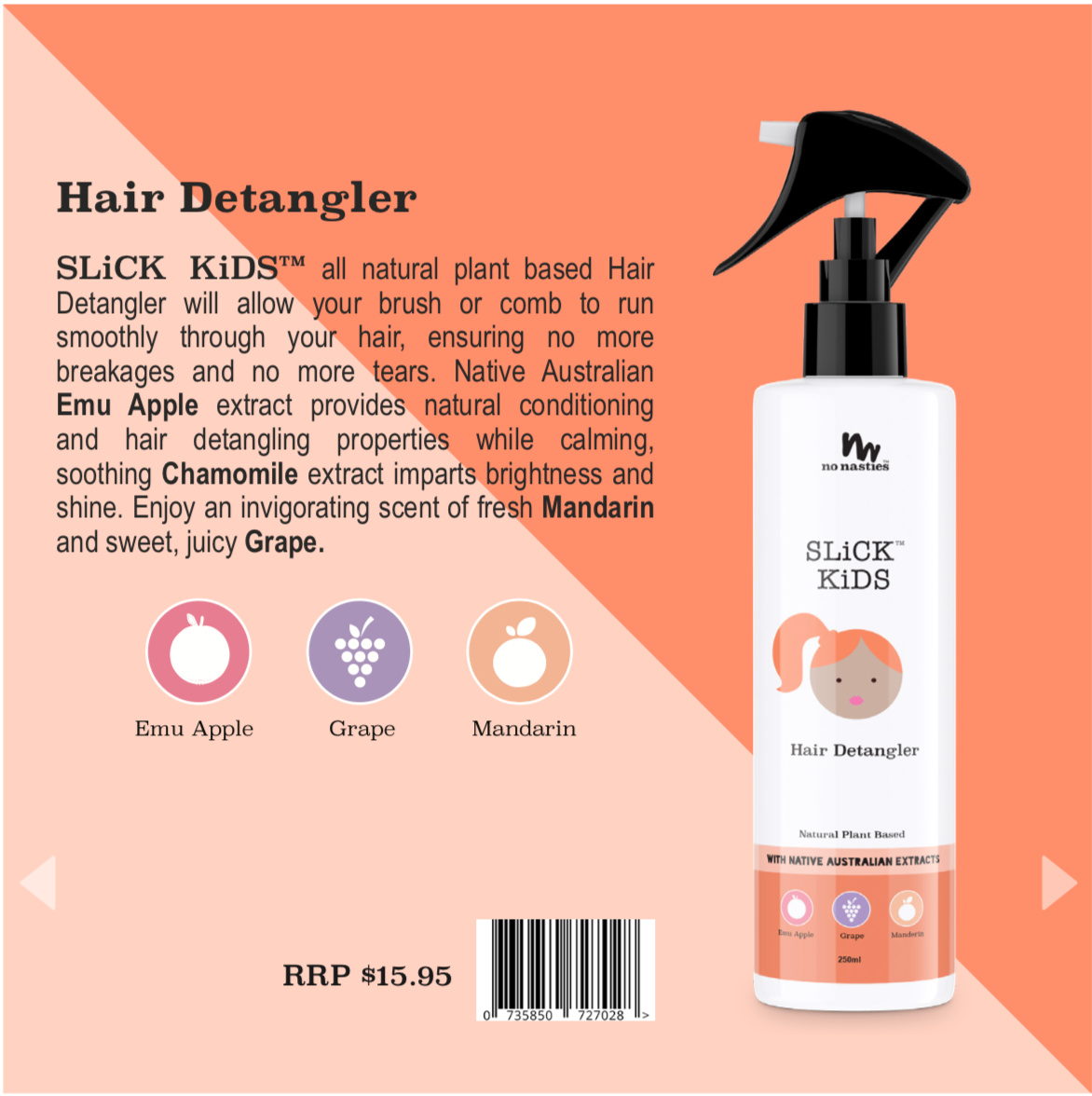 Natural Plant Based Hair Detangler