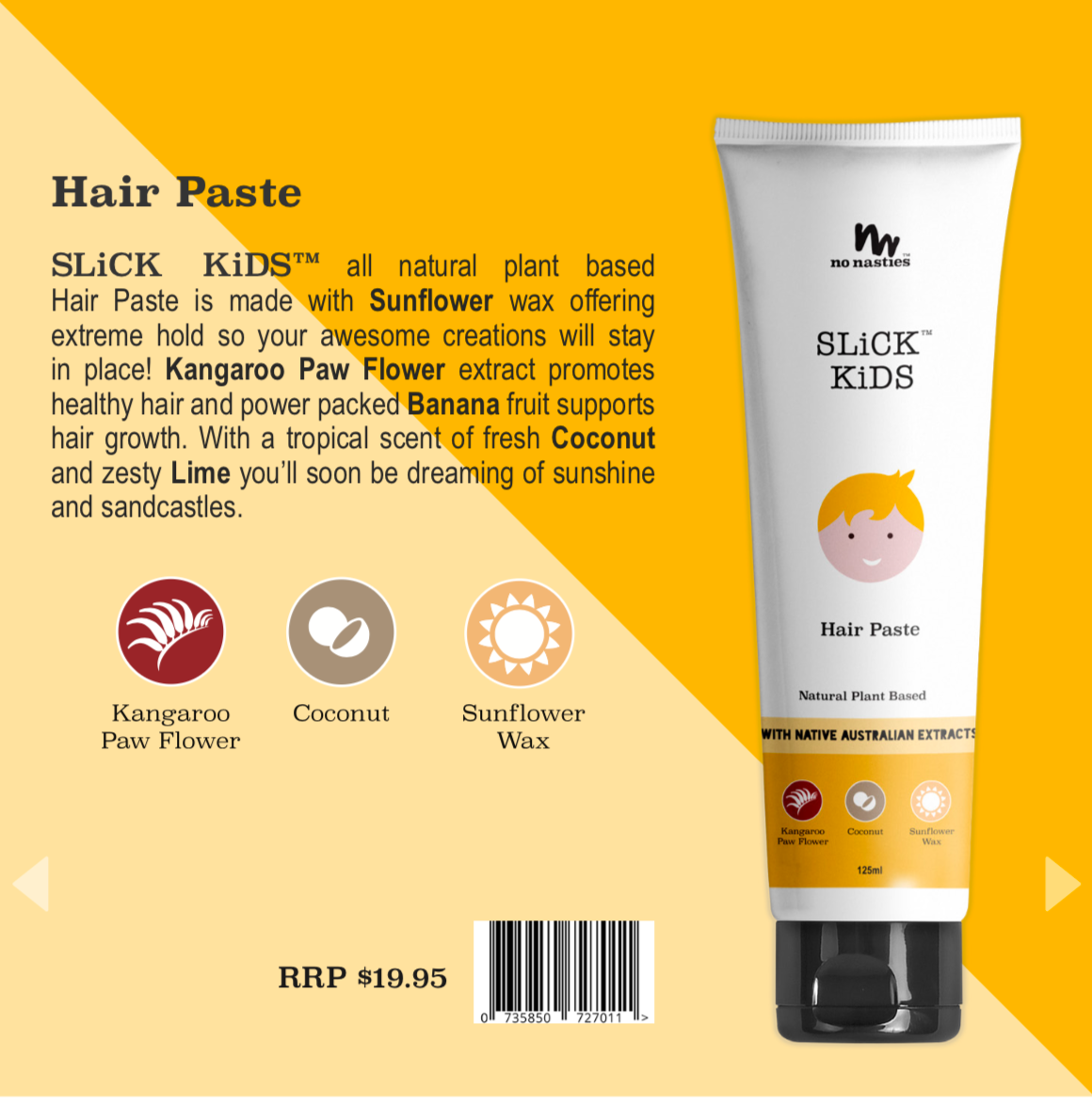Natural Plant Based Hair Paste