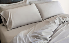 Dove Grey Sheets and Duvet Cover