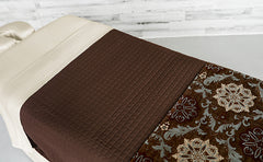 Cream Linens with a Chocolate Quilted Blanket & a Rosette Premium Saddle