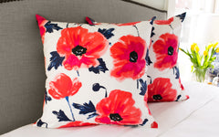"Amapola Maraschino 24"" x 24"" Pillow"