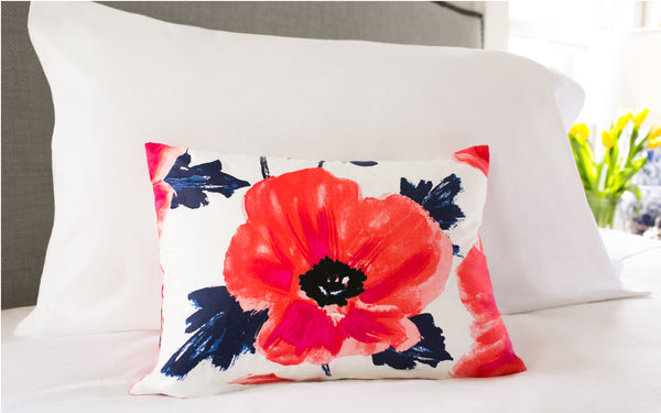 "Amapola Maraschino 12"" x 16"" Pillow"