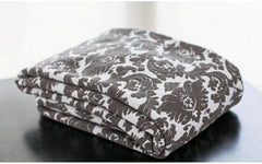 French Damask White/Grey