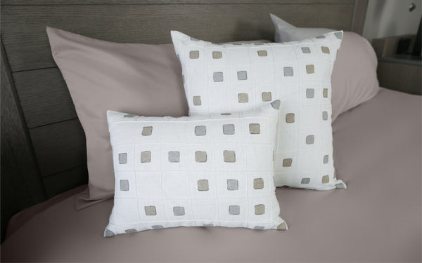 Gridwork Dune Pillow Covers