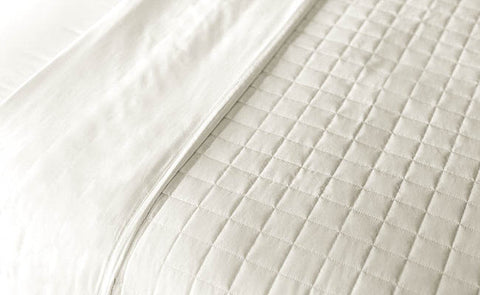 Ivory Quilted Blanket