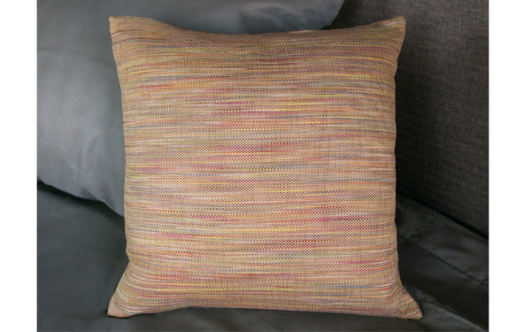 Rainbow Tweed Pillow Cover
