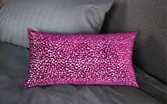 "Polka Dot Plush Plum 12"" x 22"""