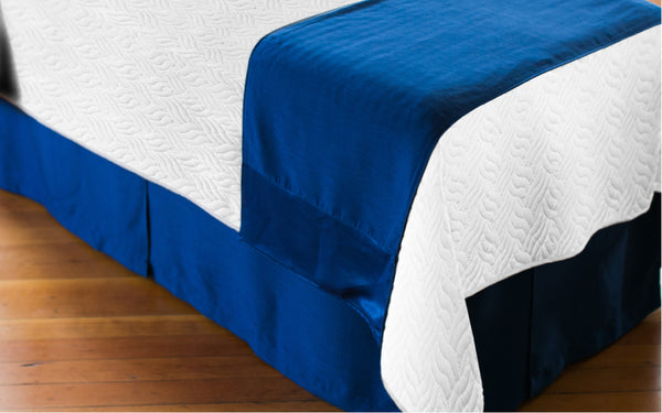 White Spa Deco Quilted Blanket
