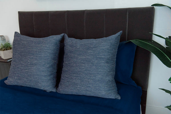 Denim Tweed Pillow Cover