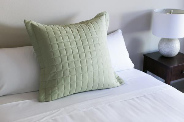 Tea Green Euro Pillow Sham