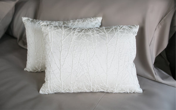 Lacey Branches Ivory Pillow Cover