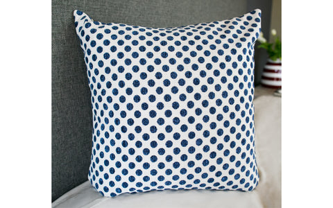 "Posie Dot Navy 22"" x 22"""