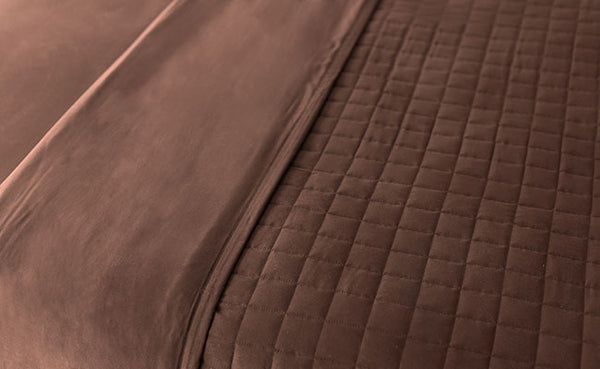 Chocolate Quilted Blanket