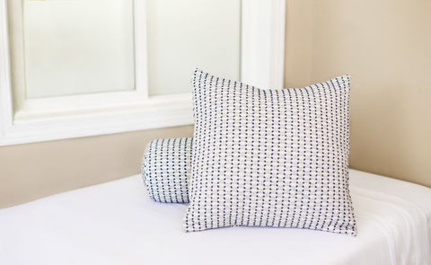 Rippleweave Blue Pillow