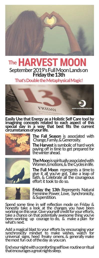 Harvest Moon Friday the 13th | Creative Self Care Idea for Women || soulandherbs.com
