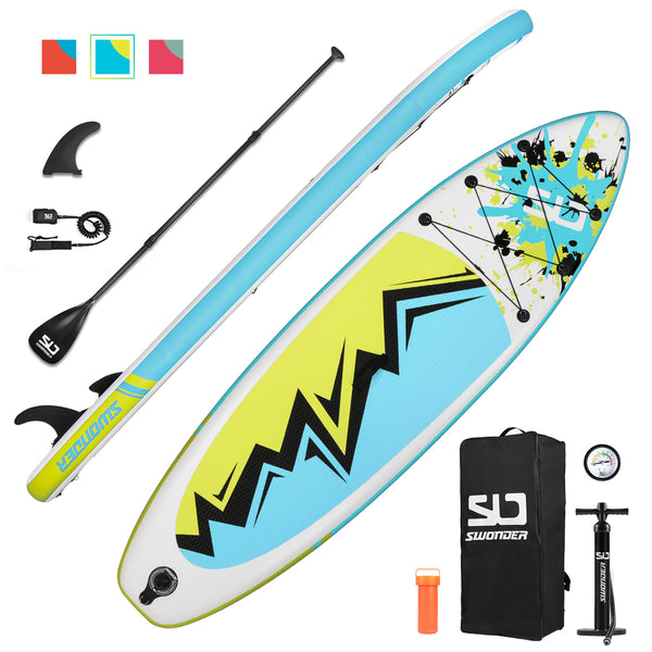 10'  Inflatable Stand Up Paddle Board Set - swonder