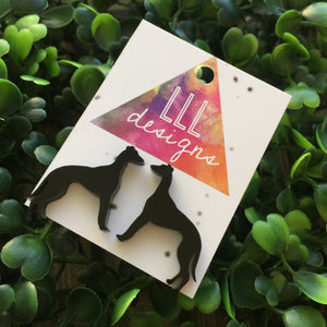 Super Cute Laser Cut Greyhound Earrings - Studs. I love Greyhounds. Greyhounds Rock. I love my Greyhound. Quirky Earrings. Fun Earrings.