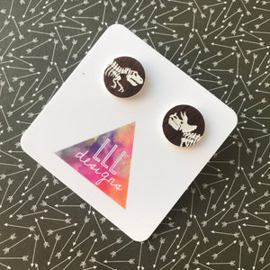Dino Battle Statement Stud Earrings - Liven up your LOBES!
