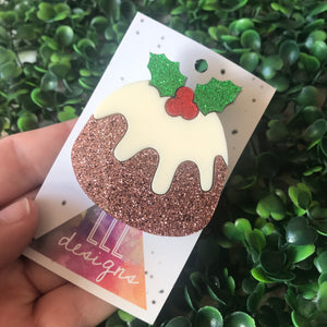 Christmas Pudding Statement Brooch!