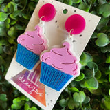 Creamy Dreamy CupCake Statement Dangle Earrings - Available in 2 Stunning Colour Options.