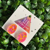 Easter Egg Earrings. Neon Speckled Easter Egg Stud Earrings. Add some POP to your lobes this Easter Season!!!