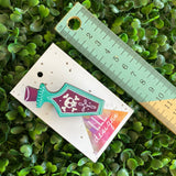 Poison Brooch. Quirky and Fun Poison Bottle Printed Timber Brooch.
