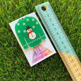 Christmas Ugly Sweater Brooch - Snowman Ugly Sweater Brooch - Layered Acrylic Brooch with Hand Painted Details.