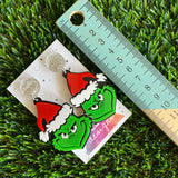 Grinch Christmas Dangle Earrings - Perfect for those who aren't into Christmas...LOL!