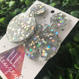 Holographic Star Confetti Dangle Earrings.