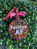 Festive AF Metallic Rainbow Statement Christmas Bauble - Not Your Average Bauble Baby ;)