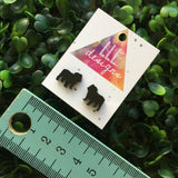 Super Cute British Bull dog Studs / Earrings. Puppy love. Bull dog love. Bulldogs rock. Bulldogs Rules. Laser Cut Earrings. Handmade Studs.