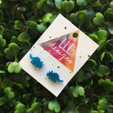 Totes Terrific Triceratops Stud - Earrings. Dinosaur Earrings. Dino Love. Life's too short to wear boring Jewellery. Fun Earrings. Quirky.
