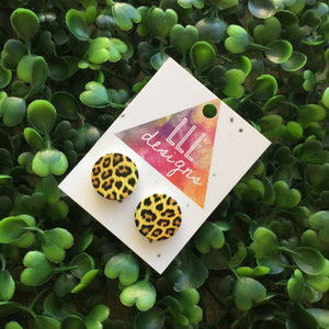 Loving Leopard Print Stud Earrings. Animal Print Earrings. Quirky Earrings. Life's too short to wear boring Jewellery.