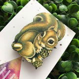 Super Duper Cute Handmade Squirrel Brooch. This little guy is off the charts adorable! He'll always make you smile :)
