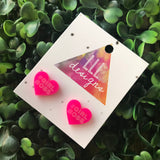 GirlBoss Statement Stud Earrings. Available in 3 different Colour ways - something for everyone's taste. Be BOLD - Be YOU!!!!!