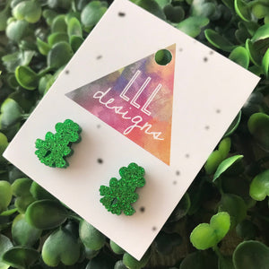 Fabulous Glitter Green Frog Stud Earrings. Liven up your Lobes with these Super Cute little characters. Perfect to brighten up your outfit.
