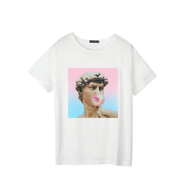 Camiseta David Michelangelo chicle