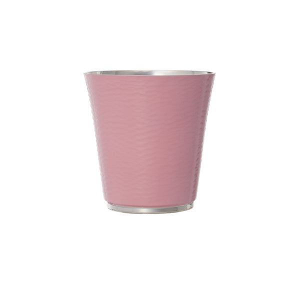 Personalised Pink Enameled Silver Plated Cup