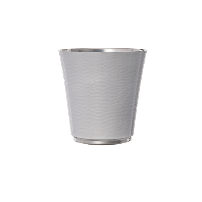 Personalised White Enameled Silver Plated Cup
